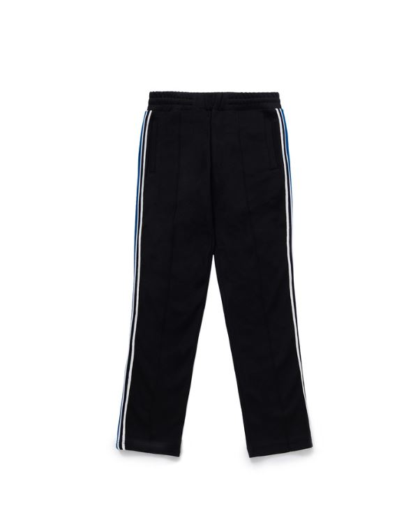 NONAGON STRIPED TAPE TRACK PANTS BK