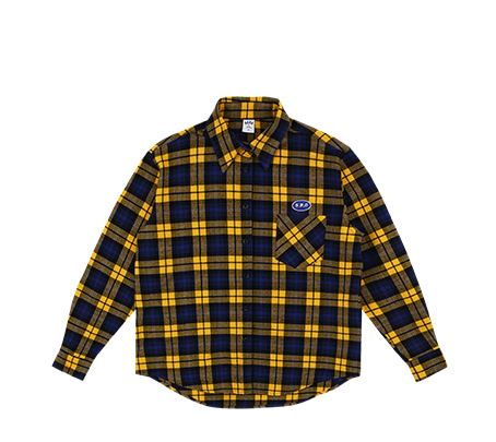 O!Oi FLIPPERS CHECK SHIRTS_yellow